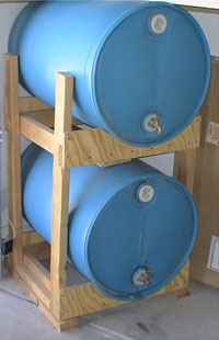 & DIY: Horizontal Storage of 55 gal. Water Barrels - Utah Preppers